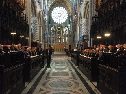The Llanfair Singers in Durham Cathedral